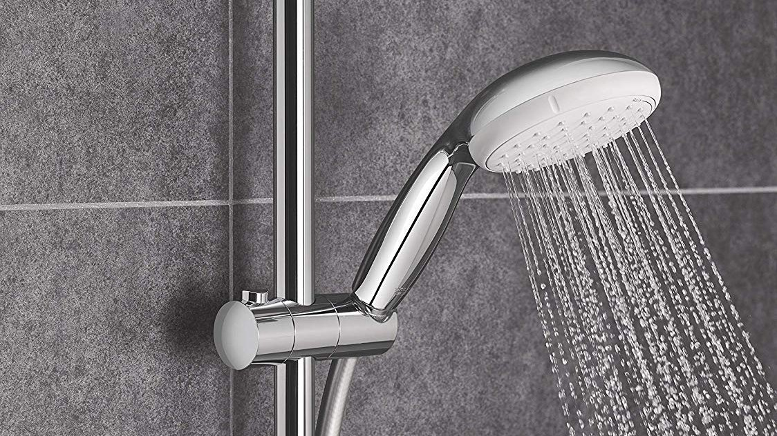 Rain Shower Head With Handheld Wall Mount