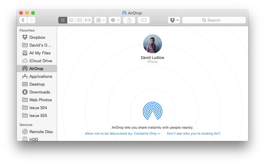 How do i set up airdrop on my macbook pro