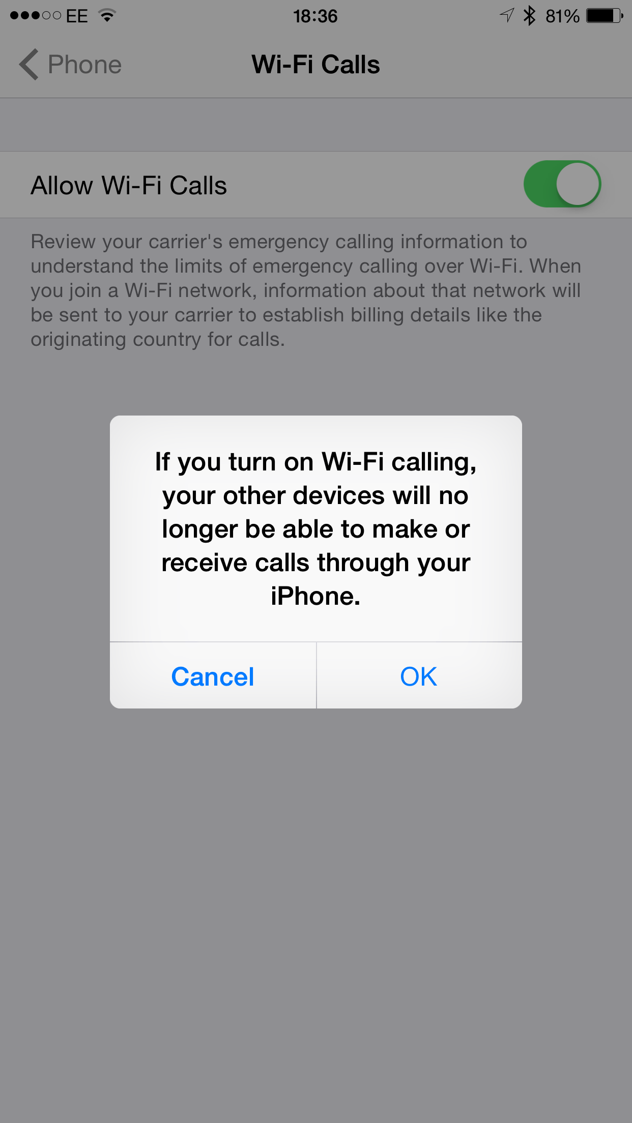 text message over wifi iphone