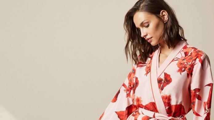 Mens Lightweight Lounge Wear Jersey Kimono Wrap Dressing Gown Navy