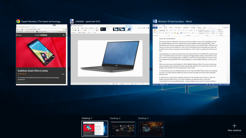 How to use virtual desktops in Windows 10   Expert Reviews