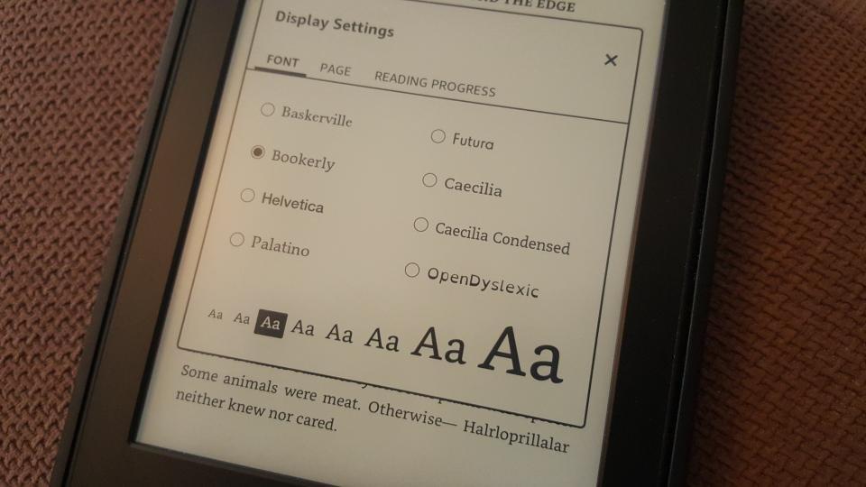 Kindle nouvelles polices d'interface
