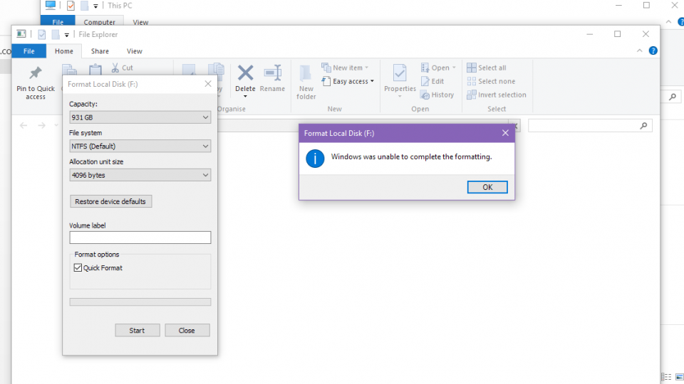 How to fix hard disk format error - internal, external and