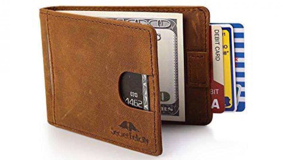 Black Brown Slim Credit Card Coin Note Holder 100/% Genuine Leather Wallet UK