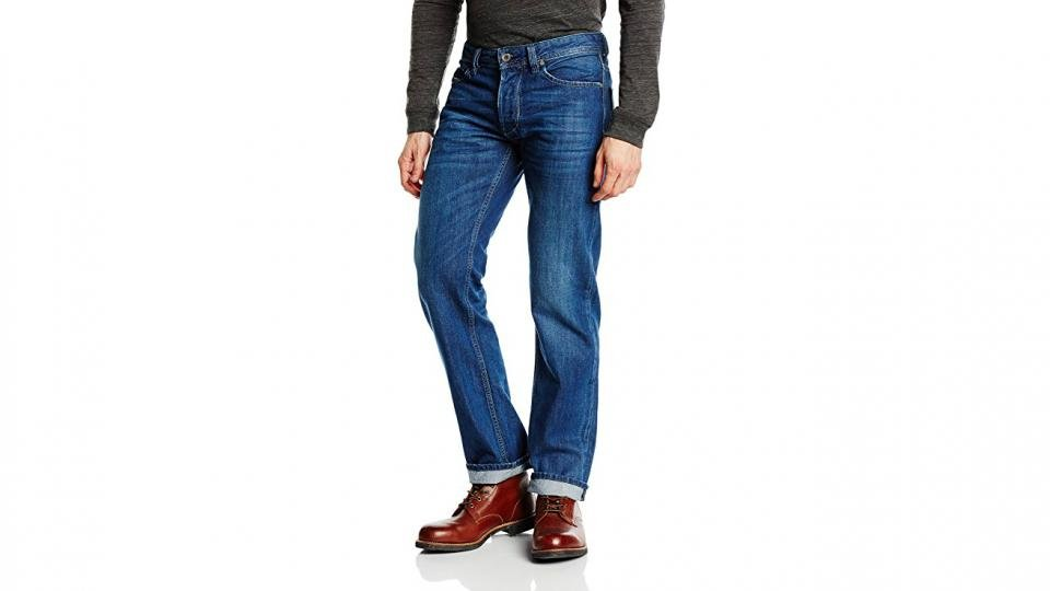 d83655e8 A classic, straight pair of jeans from Diesel - and a pair ideal for those  who are looking for orthodoxy in their denims, avoiding artfully distressed  ...