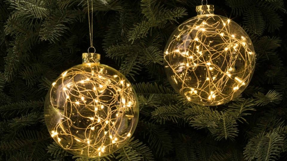 no need to buy separate fairy lights with these clever fairy light baubles in all honesty we werent quite sure about them and suspected they might be a