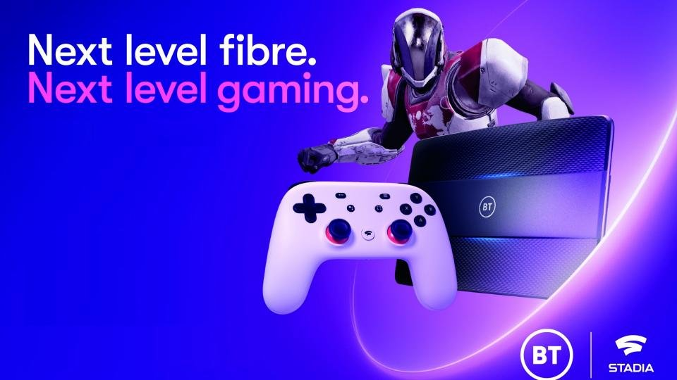 BT throws in Google Stadia with top-end fibre broadband packages
