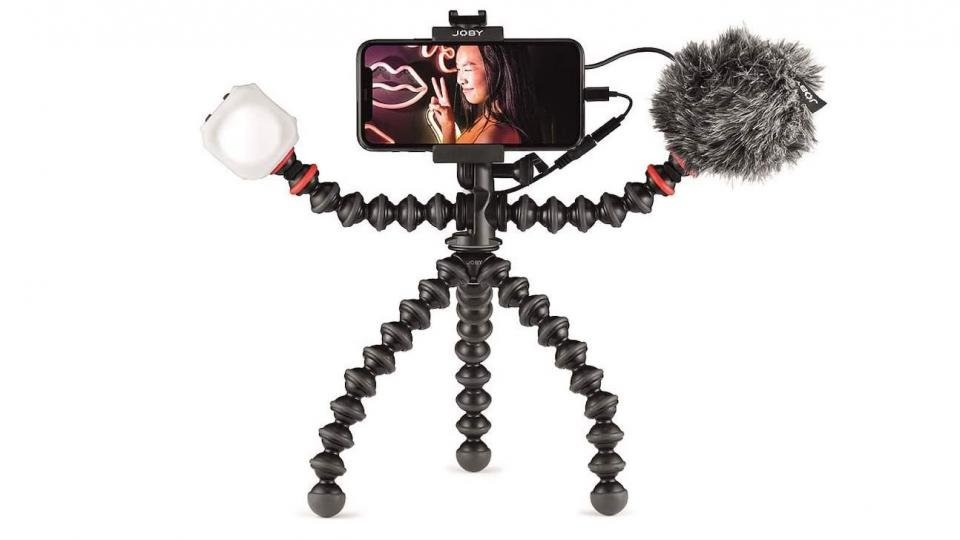 Joby Gorillapod mobile kit for vlogging with an iPhone